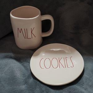 Rae Dunn Milk & Cookies Set.